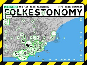 Location map of the Folkestonomy project by public works