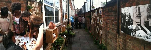 The art department moves into St Angela's secret garden