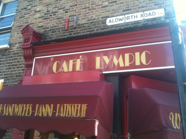 Cafe lympic on West Ham Lane in Stratford
