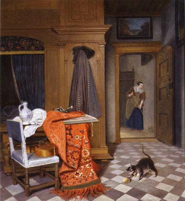 'Woman Sweeping' by Cornelis De Man